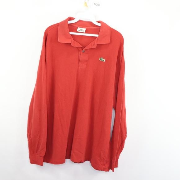 Lacoste Other - Lacoste Long Sleeve Golf Polo Shirt Reddish Orange